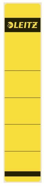1643 Rückenschilder Papier, kurz schmal, 10 Stück, gelb