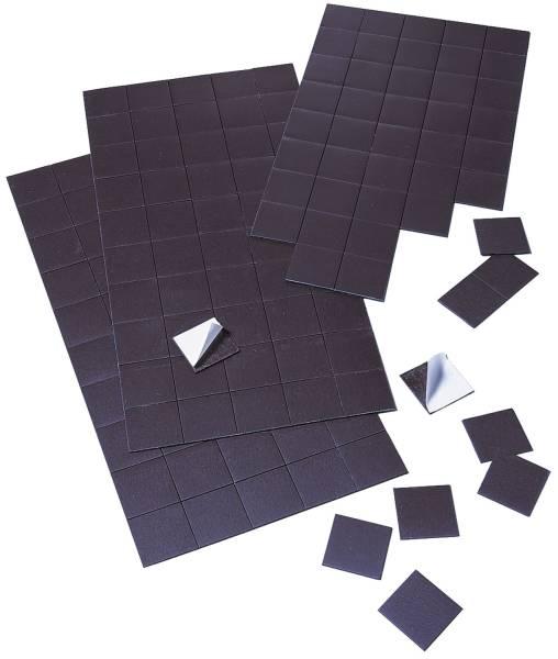 Magnetplatte, 20 mm x 2 cm, 1 mm, schwarz