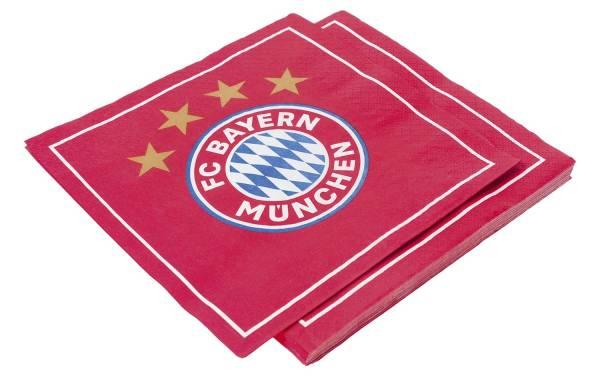 FC Bayern Servietten 33x33cm rot 25637