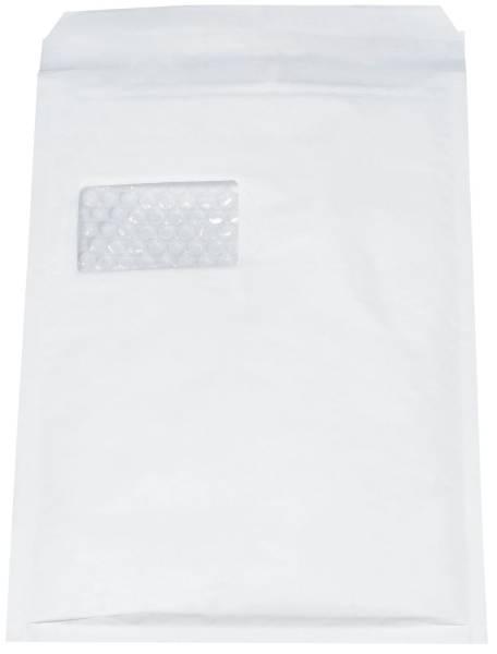 Luftpolstertaschen Nr 7 mit Fenster, 230x340 mm, weiß, 100 Stück