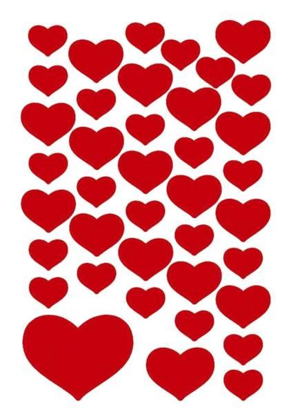 3841 Sticker DECOR Kleine Herzen rot