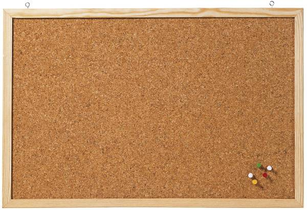 Korktafel Memoboard, 40 x 30 cm, braun