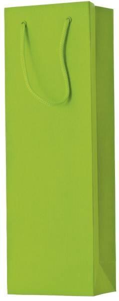 Flaschentragetasche Uni hellgrün