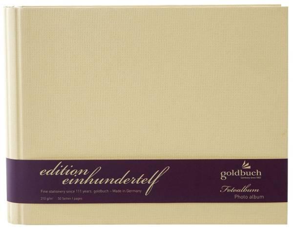 GOLDBUCH Fotospiralbuch Edition 111 beige 40758 24,5x19,5cm