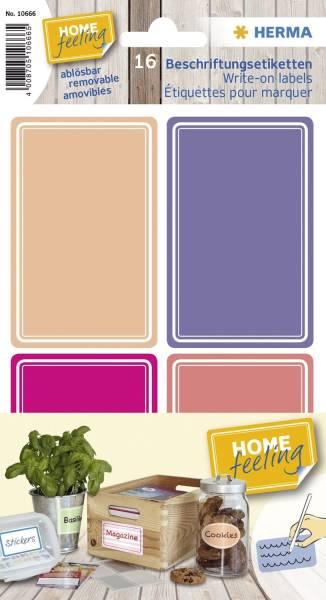 Haftetiketten 52x82mm pink lila