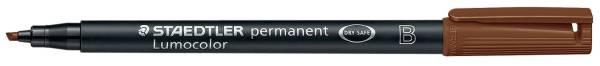 Feinschreiber Universalstift Lumocolor permanent, B, braun®