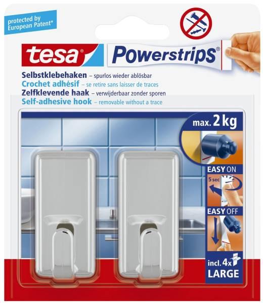TESA Klebehaken Power Strips chrom 58051-00010-01 Large Classic
