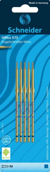 SCHNEIDER Kugelschreibermine 575M blau 77613 5St