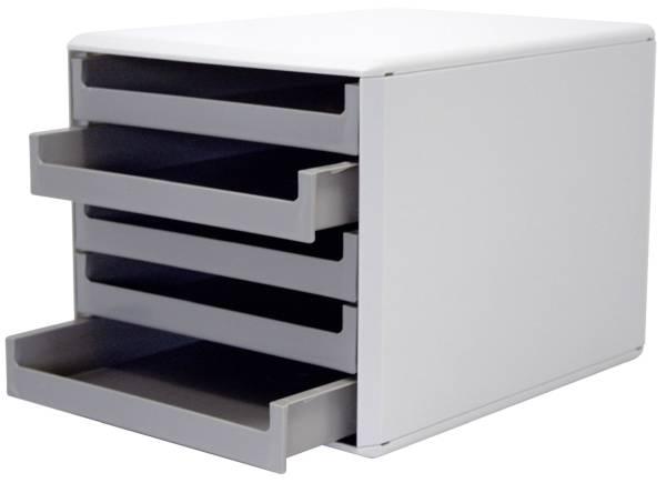 M+M Schubladenbox 5 Laden hellgr./dunkelgr. 30050910