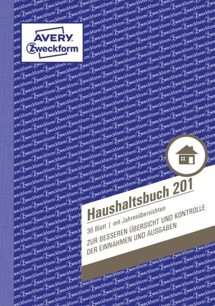 201 Haushaltsbuch, DIN A5, mit Jahresübersicht, 36 Blatt, weiß