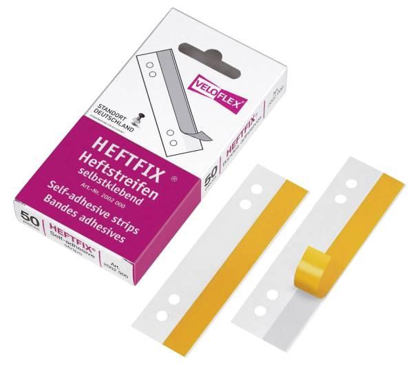 Heftstreifen HEFTFIX selbstklebend, PVC, 105 mm, glasklar, 50 Stück®