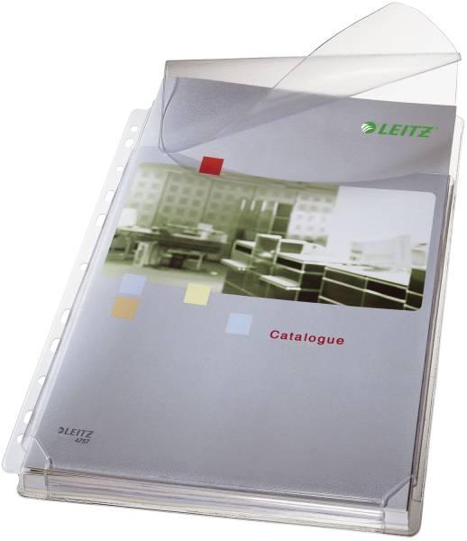 4757 Prospekthülle Maxi mit Klappe genarbt, 0,17 mm, A4, 5 Stück