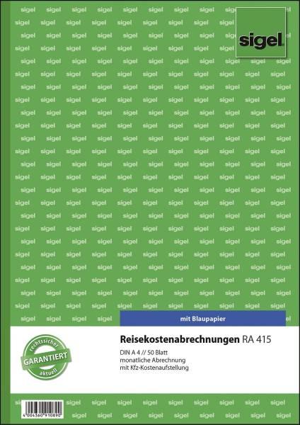 Reisekostenabrechnungen monatlich A4, SD, MP, 50 Blatt