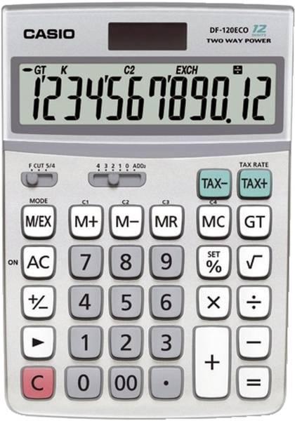 CASIO Taschenrechner 12-stellig DF-120ECO 122x174,5x35,7mm BxHxT