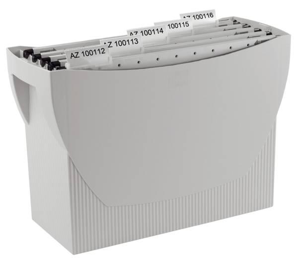 Hängemappenbox SWING, für 20 Hängemappen, lichtgrau