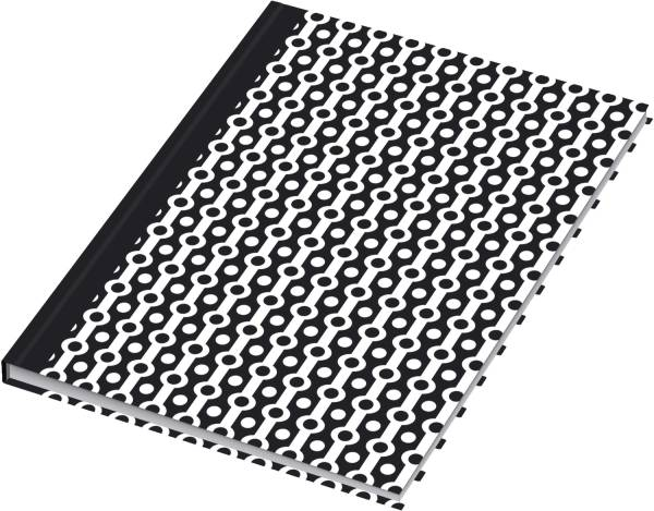 Notizbuch black&white collier A5, Pünktchenlineatur, 96 Blatt