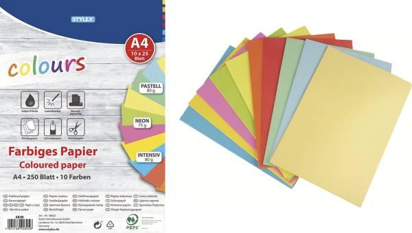 TOPPOINT Kopierpapier A4 75/80g sort. 40825 250BL