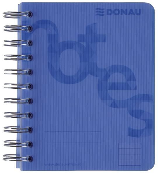 DONAU Collegeblock PP Cover A6 kariert blau 7527201-10 140BL 80g