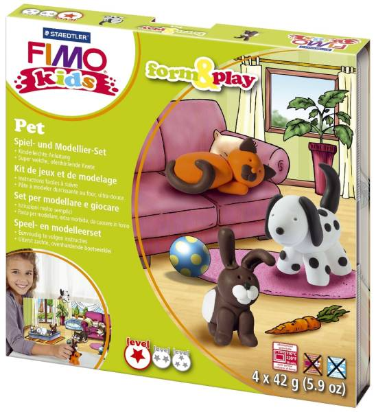 """Modelliermasse Kids Materialpackung Form & Play """"Pets"""", 4 x 42 g®"""