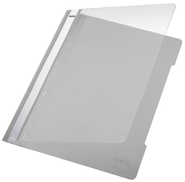 4191 Hefter Standard, A4, langes Beschriftungsfeld, PVC, grau