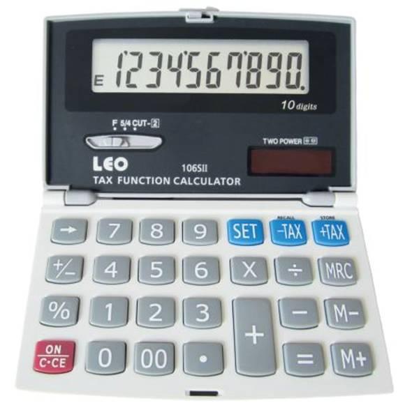 LEO Taschenrechner silber/grau 106S II