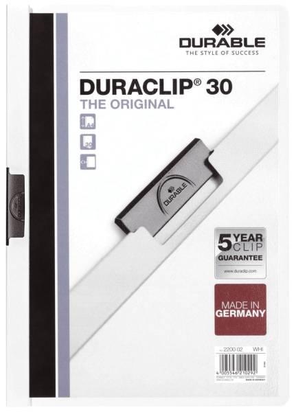 Klemm Mappe DURACLIP 30, DIN A4,weiß®