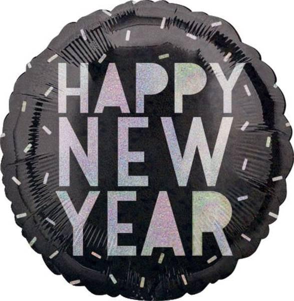 Folienballon Silvester Happy New Year 885901 rund