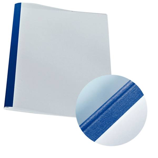 LEITZ Thermomappe Leinen A4 blau 177119 25ST 3mm