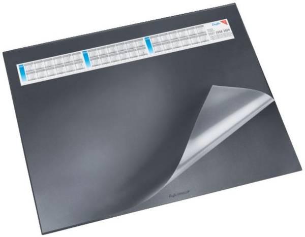Schreibunterlage DURELLA DS mit Vollsichtauflage, Kalender, 65 x 52 cm, schwarz