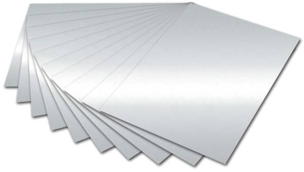 Tonpapier 50 x 70 cm, silber glänzend