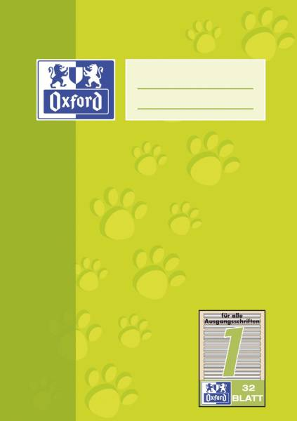 Heft A5 32 Blatt Lineatur 1