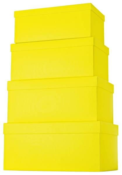 Geschenkkarton 4 tlg , hoch, gelb