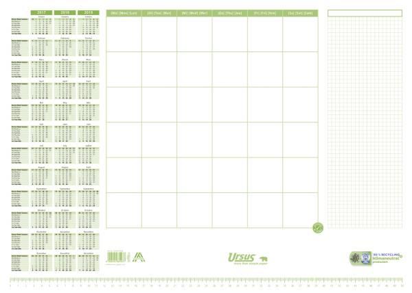 Schreibunterlage 525 x 375 mm, Recycling Papier, 30 Blatt