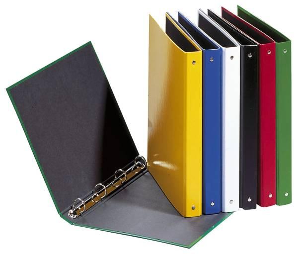 Ringbuch Basic Colours A4, 4 Ring, Ring Ø 25mm, schwarz