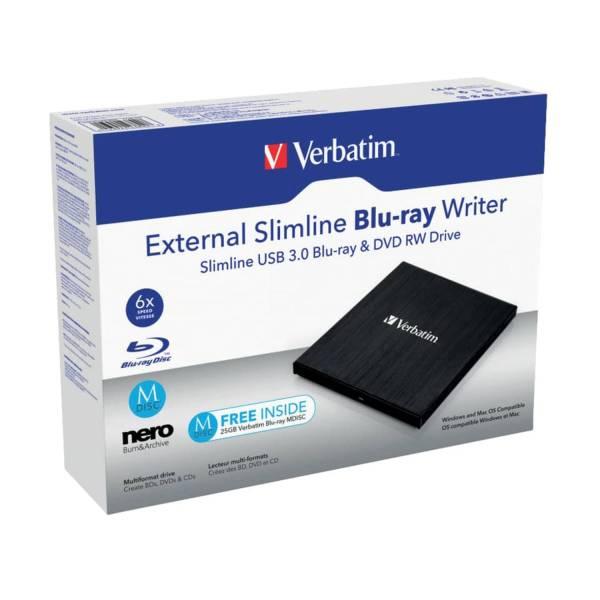 VERBATIM Laufwerk Slimline Blu-ray schwarz/grau 43890