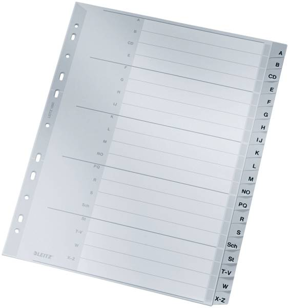 1260 Register A Z, PP, A4 Überbreite, 20 Blatt, grau