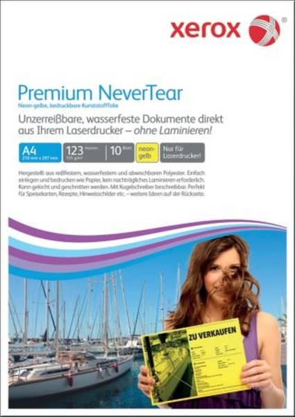XEROX Laserfolie A4 10BL neongelb 003R98128 NeverTear