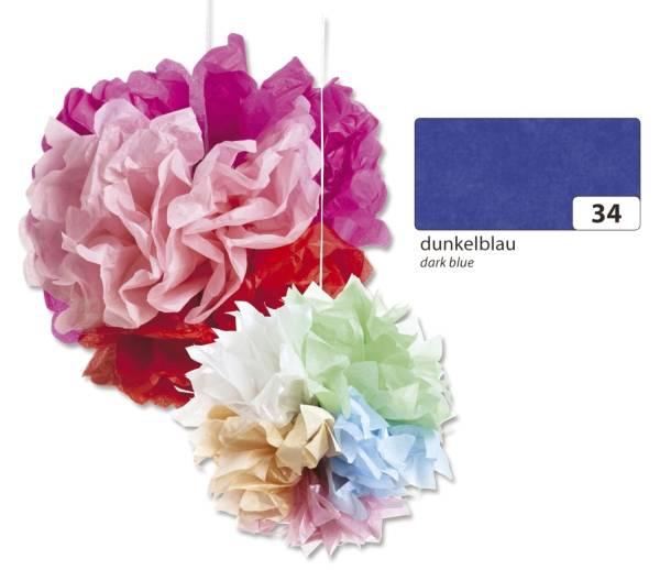 Blumenseide 50 x 70 cm, 5 Bogen, dunkelblau