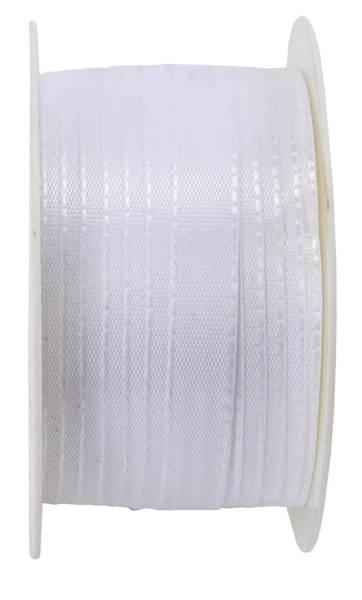 Basic Taftband 10 mm x 50 m, weiß