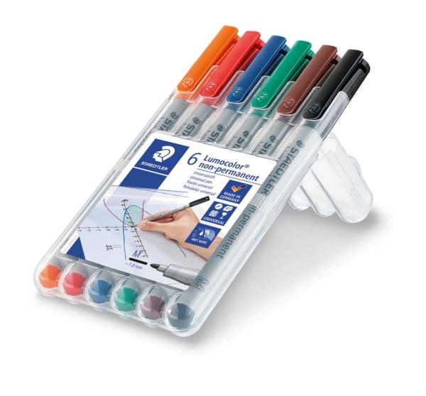 Feinschreiber Universalstift Lumocolor non permanent, M, Box mit 6 Farben®