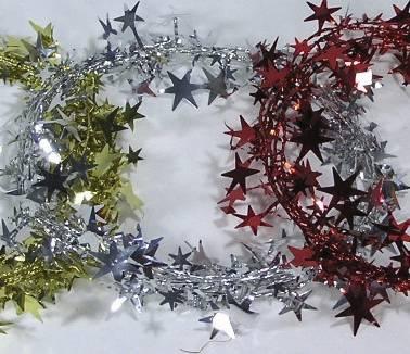 Decodraht Sterne silber 4682 2,7 m