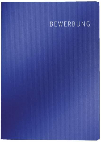 3974 Bewerbungsmappe Exklusiv, A4, Karton, 3tlg dunkelblau