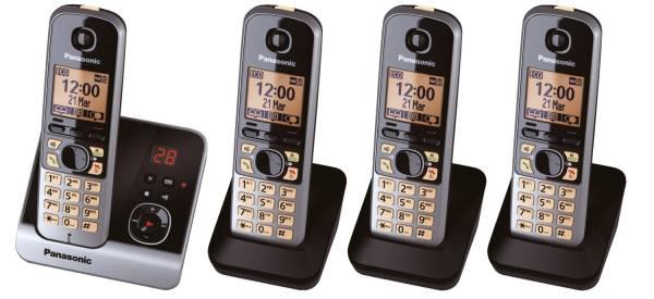 Telefon KX TG6724GB schnurlos titan schwarz