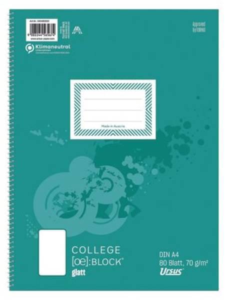 STAUFEN STYLE Collegeblock A4 80BL unlin. 040480000 70g