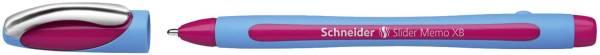 Kugelschreiber Slider Memo XB 0,7 mm, pink