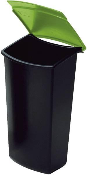 Abfalleinsatz MONDO mit Deckel, 3 Liter, schwarz grün