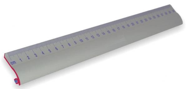 Lineal 30cm Alu Standard mit Rutschbremse