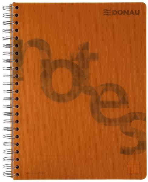Collegeblock PP Cover A4, kariert, orange