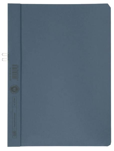 Klemmmappe, Manilakarton (RC), 250 g qm, für 10 Blatt A4,blau