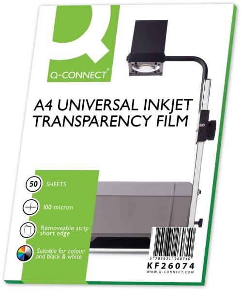 Q-CONNECT Inkjet Folie A4 KF26074 50 Klebestr.ob